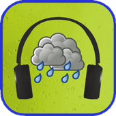 Relaxation on sound of rain icon