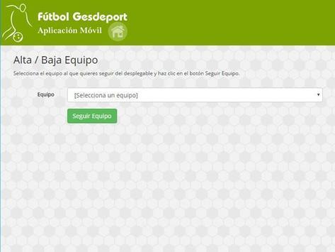 App Gesdeport poster
