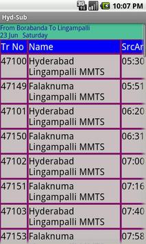 Hyderabad Suburban trains apk screenshot