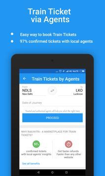 भारतीय रेल पीएनआर स्थिति, ट्रेन स्थिति, खाना, टिकट apk स्क्रीनशॉट