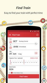 Live Train Status, PNR Status & Indian Rail Info apk screenshot