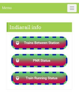 Indian Rail Train Info poster