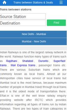 Indian Rail Train Info screenshot 1