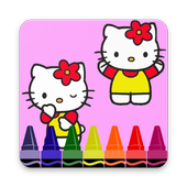 Coloring Book For Kitty Fans icon