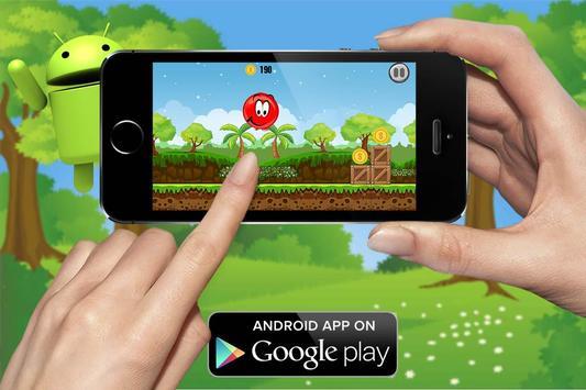 Red ball bouncing world screenshot 1