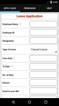 Leave Application screenshot 1