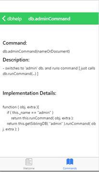 Command Reference for MongoDB apk screenshot