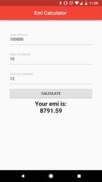 EMI Calculator screenshot 1