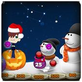 Christmas Snowman Bubble icon