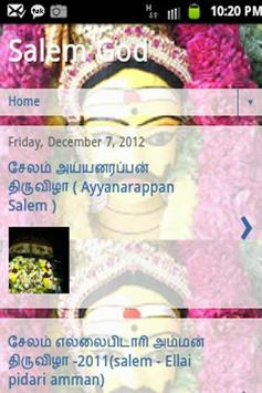 Salem God (Tamil nadu) poster