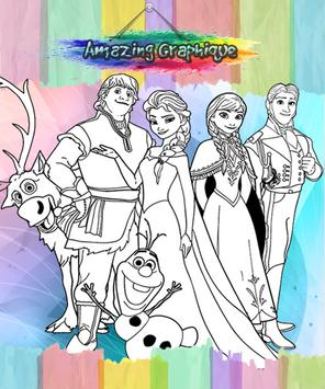 How To Color Frozene Game apk screenshot