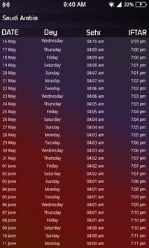Ramzan Calendar prayer times & dua 2018 screenshot 5