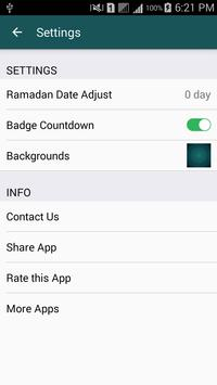 Ramadan 2018 Countdown apk screenshot