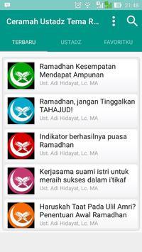 Ceramah Ramadhan 2017 Terbaru apk screenshot