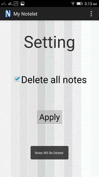 My NoteLet apk screenshot