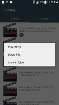 Subtitles apk screenshot