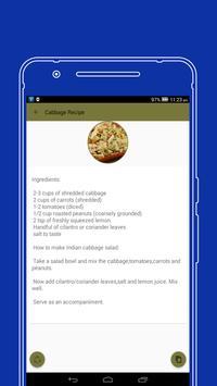 Cabbage recipes apk screenshot