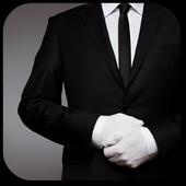 Stylish Men Suit Design icon
