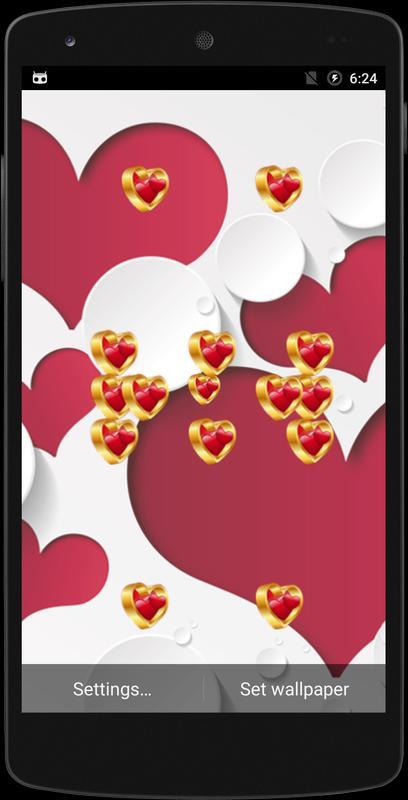 Sweet Love Live Wallpaper Apk Screenshot