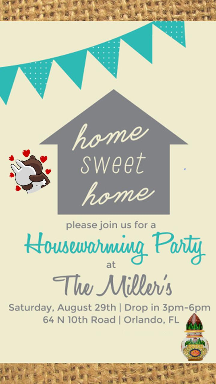 Housewarming Invitation Card Maker For