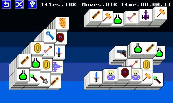 8 Bit Mahjong Free screenshot 1