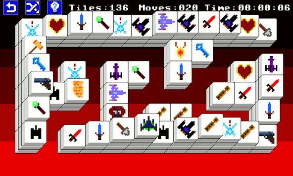 8 Bit Mahjong Free screenshot 2