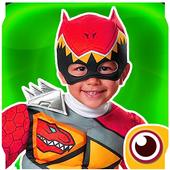 power hero ranger mask : camera photo sticker icon