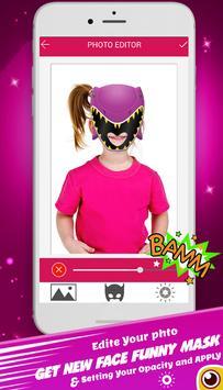 power hero ranger mask : camera photo sticker screenshot 4