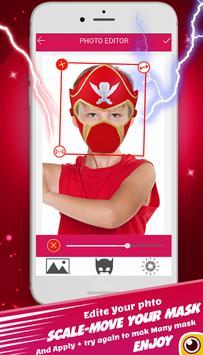 power hero ranger mask : camera photo sticker screenshot 3