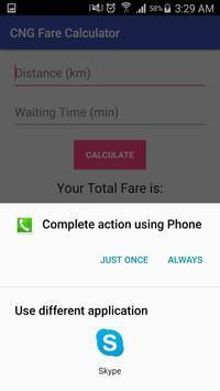 CNG Fare Calculator apk screenshot