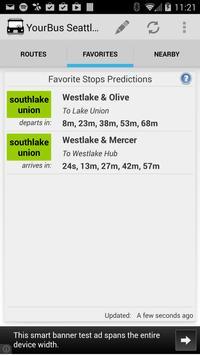 YourBus Seattle Streetcar screenshot 1
