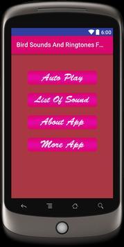 Bird Sounds & Ringtones Free apk screenshot