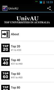 UnivAU: Australia Top Colleges poster