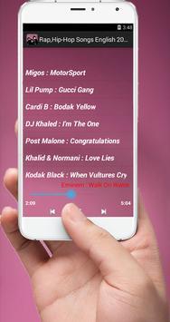 English Rap Songs Hip Hop 2018 screenshot 6