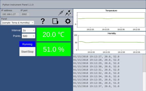 GUI Maker for ESP8266 & ESP32 - Python Inst. Panel screenshot 2