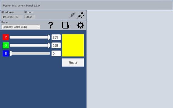 GUI Maker for ESP8266 & ESP32 - Python Inst. Panel screenshot 3