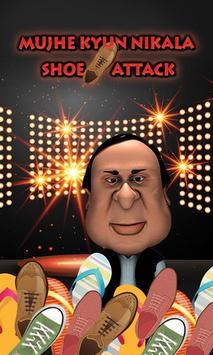 Mujhe Kyun Nikala Shoe Attack Fun poster