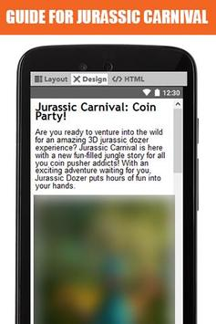 Guide for Jurassic Carnival screenshot 1