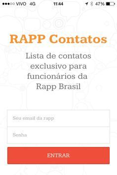 Rapp Contatos apk screenshot