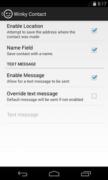 Winky Contact apk screenshot