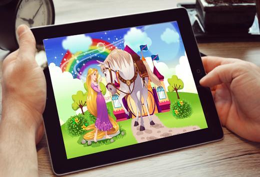 princess rapunzel beautiful and horse poster