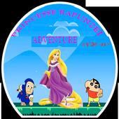 princesse drawing rapunzel adventure icon