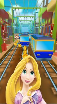 Princess Rapunzel Subway City Run apk screenshot