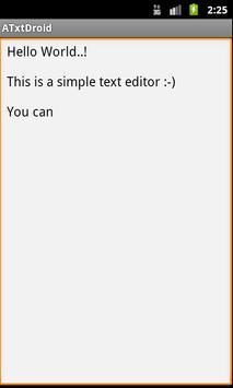 ATxtDroid - Text Editor poster