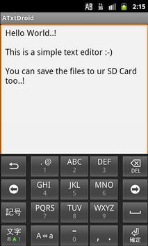 ATxtDroid - Text Editor apk screenshot
