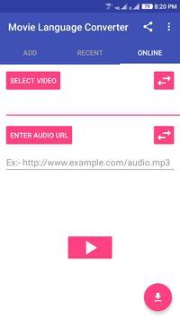 Video language converter