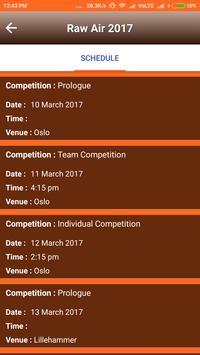 Free Schedule of Raw Air 2017 apk screenshot