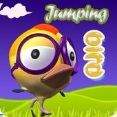 Jumping Bird Funny icon