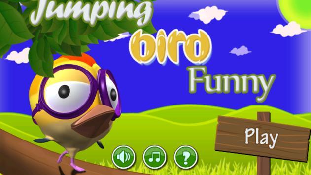 Jumping Bird Funny poster