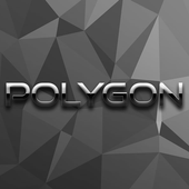 Black Polygon Backgrounds HD icon